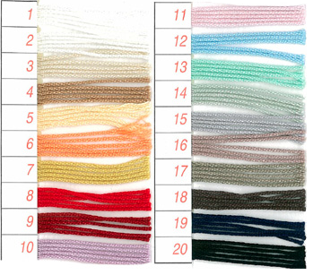 Crochet yarn colour code